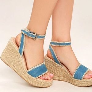 Sold at Anthropologie / Matisse Chambray Wedge 7